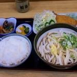 19851516 - ころうどん定食(750円)※ライス・揚げ物・サラダ・漬物付き