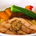 らぁめん まだら - 【2013.06.30】限定_冷製 カレー肉味噌と豆乳の和え麺(210g)