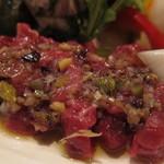 タマヤ - 馬肉のカルパッチョ ラビゴットソース