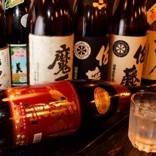 焼酎や日本酒の種類が豊富!