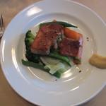 19855463 - 自家製塩漬け豚バラ肉のカリカリ焼き