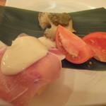 小石川 かとう - シャンパンに合うお通しを作ってもらいました(^^)