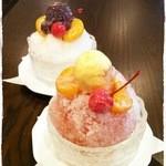 いずみ - 夏季限定!【かき氷】はガリガリ粗く削った氷で、歯ごたえが気持ち良いです!アイスものってます^^