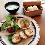 musubiのカフェ - おむすびランチ800円