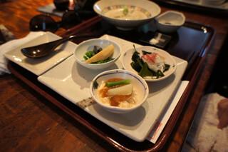 志蕎庵 江月 - 蕎麦膳(前菜、せいろそば、そばがき、そば団子)
