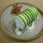 刈谷スプーン - 大府のズッキーニで巻いた網走産帆立貝のムース