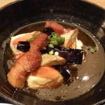 大かまど飯 寅福 - 豆腐と野菜、豚肉の黒酢餡かけ
