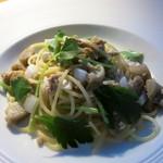 ラ・ソラシド フードリレーションレストラン - 川俣シャモと新牛蒡 みつ葉のラグーソーススパゲッティ