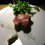 ラ・ソラシド フードリレーションレストラン - 仔イノシシのロースト ハーブマスタード添え