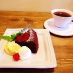 コトリコーヒー - フランボワーズショコラとブレンドコーヒー
