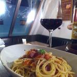 ワインカフェ 大森 - 鴨とトマトのオイルパスタ