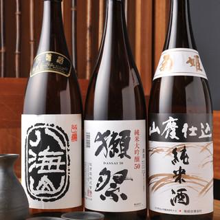 新潟を中心に日本各地より美味しいお酒を求めて。