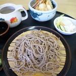 八駿庵 - 料理写真:天丼セット650円 蕎麦は「冷」