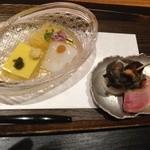 旅邸 諧暢楼 - トウモロコシの寄せ豆腐とカモ