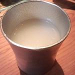 19877717 - 日本酒のグラスは、すず、だそうです。