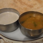 南インド ティファン&レストラン ムット - サンバルとヨーグルト