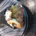 琉球回転寿司 海來 - 創作寿司の一つ