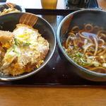 19880266 - カツ丼セット&うどん(850円)