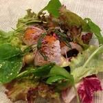 サカナザ・マエダ - Aランチの前菜 私のは活け鱧の炙り…