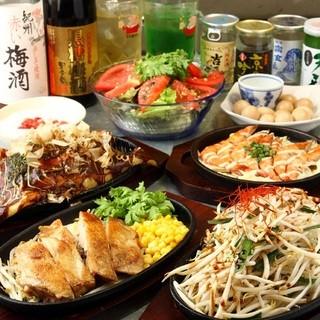 【お肉・海鮮・野菜】各種鉄板焼きが盛り沢山