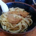 牧のうどん - 大盛りきつねうどん470円・・・開店一番乗りは堅麺しかありません。