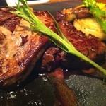ステーキ膳所 アクワラングIMURA - フォアグラ&ステーキをミディアムレアで。