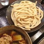 つけ汁うどん 野澤 - ランチ。肉汁うどん。茄子をトッピング。