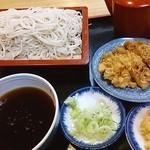 かねさく - もりと天ぷら(ほっき)