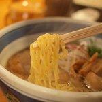 麺や 庄の - 特製らーめん(麺)
