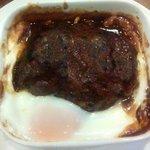 遊季亭 - 本日のハンバーグ デミグラスソース 半熟玉子添え(アップ)