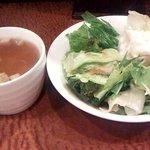 遊季亭 - サラダとスープ(セルフ)