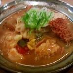 野方屋 - もつ煮¥420(みそ味)