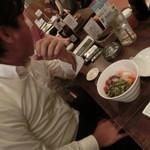 ハノイのホイさん - M岡氏はフォー的なのを注文(2013.07)