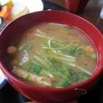 米の子 - お野菜たっぷりのお味噌汁