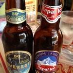 LUMBINI CURRY HOUSE - 右のアイスビールは新しく入荷しました。私はこちらが好みです。