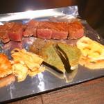 ニュー松坂 - 松阪牛のロース肉と焼き野菜です。