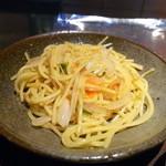 ニュー松坂 - 最後に焼きスパゲティがやって来ました。