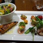 パティスリートゥーストゥース サロン・ド・テ - 前菜とキッシュのセット
