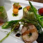 パティスリートゥーストゥース サロン・ド・テ - 綺麗な野菜が主役の前菜