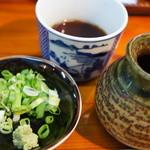 南阿蘇一心庵 - (2012.11)薬味はわさびとネギ(緑)。つゆは甘めかな。