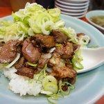 味の工房 菜苑 - 純レバ丼
