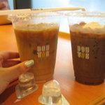 ドトールコーヒーショップ - アイスカフェオレ&アイスココア