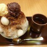 神戸風月堂カフェ - 黒みつしぐれ 893円