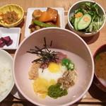 ABC canteen - ねばねば健康ごはん(トントロとゴロゴロ根菜の黒酢豚)こおりセット 1560円