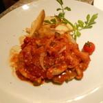 元気な食卓 - 南部鶏のステーキ:トマトガーリックソース