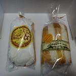 駒ケ岳洋菓子工房 - バナナオムレット289円、シフォンカット(さつま芋)279円