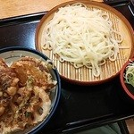 19929924 - 野菜天丼うどんセット(750円)