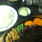 キッチンクレソン - リヨン風ハンバーグ 980円