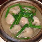 四季の味処 髭ダルマ - 地鶏スープ餃子。