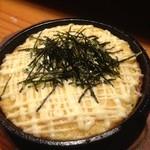カタギリ - 山芋とろろ焼!ふんわり焼いたとろろにマヨネーズが合う!こげた部分も美味!